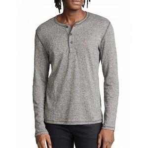 Billy Reid, Henley Sweater in Gray, Size L